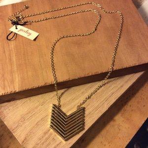 Stitch Fix Pixley Gold Chevron Necklace